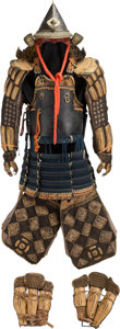 Asian:Japanese, A Japanese Samurai Armor, Edo Period, 18th-19th century. 52-1/2inches high (133.4 cm) (approximate). ...