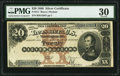 Large Size:Silver Certificates, Fr. 311 $20 1880 Silver Certificate PMG Very Fine 30.. ...