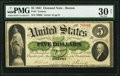Large Size:Demand Notes, Fr. 3 $5 1861 Demand Note PMG Very Fine 30 Net.. ...