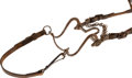 Militaria:Uniforms, U.S. Marked Leather Bridle and Bit....