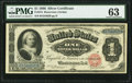 Large Size:Silver Certificates, Fr. 215 $1 1886 Silver Certificate PMG Choice Uncirculated 63.. ...