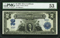 Large Size:Silver Certificates, Fr. 256 $2 1899 Silver Certificate PMG About Uncirculated 53.. ...