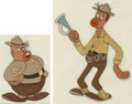 Animation Art:Production Cel, The Boogie Woogie Bugle Boy of Company B Harry and the Sergeant Production Cels Group of 2 (Walter Lantz, 1941).... (Total: 2 Items)