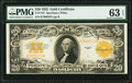 Large Size:Gold Certificates, Fr. 1187 $20 1922 Gold Certificate PMG Choice Uncirculated 63 EPQ.. ...