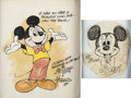 Animation Art:Production Drawing, Mickey Mouse Original Art by X. Atencio and Jimmy Dodd Group of 2(Walt Disney, 1984).... (Total: 2 Original Art)