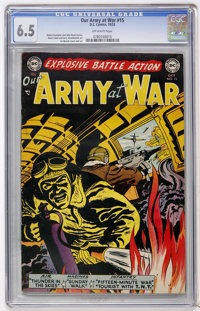 Our Army at War #15 (DC, 1953) CGC FN+ 6.5 Off-white pages