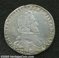 Italian States:Milan, Italian States: MIlan. Philip IIII of Spain Filippo 1657, Davenport4003, decent Fine, small edge nick. From the Dr. Kurt PetersCollection....