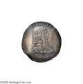 Italian States:Milan, Italian States: Milan. Charles II Filippo 1666, Davenport 4004,lovely toned VF, crudely shaped planchet. Accolated bustsright/Crowned arms...