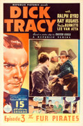 """Movie Posters:Serial, Dick Tracy (Republic, 1937). One Sheet (27"""" X 41"""") Chapter 3 --""""The Fur Pirates."""". ..."""