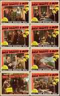 "Movie Posters:Serial, Dick Tracy's G-Men (Republic, 1939). Lobby Card Set of 8 (11"" X14"") Chapter 1 -- ""The Master Spy."". ... (Total: 8 Items)"