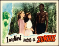 "Movie Posters:Horror, I Walked with a Zombie (RKO, 1943). Lobby Card (11"" X 14"").. ..."