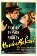 "Movie Posters:Film Noir, Murder, My Sweet (RKO, 1944). One Sheet (27"" X 41"").. ..."