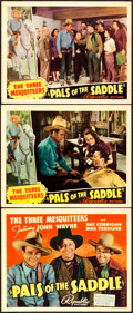 "Movie Posters:Western, Pals of the Saddle (Republic, 1938). Title Lobby Card & LobbyCards (2) (11"" X 14"").. ... (Total: 3 Items)"