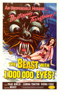 """Movie Posters:Science Fiction, The Beast with 1,000,000 Eyes! (American Releasing Corp., 1955).One Sheet (27"""" X 41"""") Albert Kallis Artwork.. ..."""