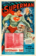 Movie Posters:Serial, Superman (Columbia, 1948). Autographed One Sheet (...
