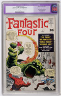 Silver Age (1956-1969):Superhero, Fantastic Four #1 (Marvel, 1961) CGC Apparent FN+ 6.5 Slight (P) Cream pages....