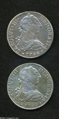 Mexico: , Mexico: Carlos III 8 Reales - Final Pair, KM106.2, 1788-FM,lustrous XF+, bold strike, lightly cleaned, and 1789-FM, AXF, nicestrik... (Total: 2 coins Item)