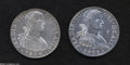 Mexico: , Mexico: Ferdinand VII 8 Reales 1808-TH, KM110, armored bust, twoexamples: Lightly toned VF-XF, natural edge flaw and lightlycleane... (Total: 2 coins Item)