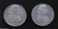 Mexico: , Mexico: Ferdinand VII 8 Reales 1809-HJ - Pair, KM110, VF-XF, verylightly cleaned and now toning nicely, and bold XF, sharpdetails,... (Total: 2 coins Item)