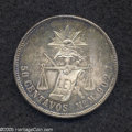Mexico: , Mexico: Republic 50 Centavos 1887 Mo-M, KM396.1, AU with superbtoning and a few obverse contact marks. The strike is sharp and the...