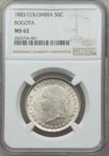 Colombia, Colombia: Republic 50 Centavos 1883 MS62 NGC,...