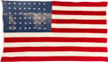 Military & Patriotic:WWII, Battle of Wake Island: U.S. Flag Salvaged From the Onslaught of Japanese Forces....