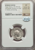 Ancients:Ancient Lots , Ancients: ANCIENT LOTS. Roman Imperial. Trajan Decius (AD 249-251).Lot of two (2) AR antoniniani. NGC XF-Choice XF.... (Total: 2coins)