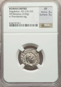 Ancients:Ancient Lots , Ancients: ANCIENT LOTS. Roman Imperial. Ca. AD 23-222. Lot of three(3) AR and AE issues. NGC Fine-XF.... (Total: 3 coins)
