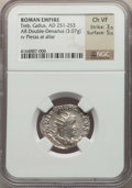Ancients:Ancient Lots , Ancients: ANCIENT LOTS. Roman Imperial. Ca. AD 249-253. Lot of two(2) AR antoniniani. NGC Choice VF-Choice AU.... (Total: 2 coins)