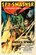 "Movie Posters:Serial, Spy Smasher (Republic, 1942). One Sheet (27"" X 41""..."