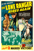 Movie Posters:Serial, The Lone Ranger Rides Again (Republic, 1939). One ...