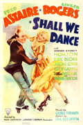 "Movie Posters:Musical, Shall We Dance (RKO, 1937). One Sheet (27"" X 41"").. ..."