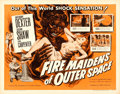 "Movie Posters:Science Fiction, Fire Maidens of Outer Space (Topaz, 1956). Half Sheet (22"" X 28"")Albert Kallis Artwork.. ..."