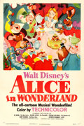 "Movie Posters:Animation, Alice in Wonderland (RKO, 1951). One Sheet (27"" X ..."