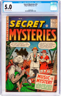 Golden Age (1938-1955):Horror, Secret Mysteries #19 (Ribage Publishing, 1955) CGC VG/FN 5.0 Cream to off-white pages....