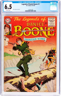 Legends of Daniel Boone #1 (DC, 1955) CGC FN+ 6.5 Off-white pages