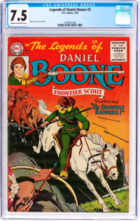 Legends of Daniel Boone #3 (DC, 1956) CGC VF- 7.5 Cream to off-white pages