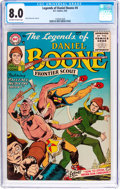 Silver Age (1956-1969):Western, Legends of Daniel Boone #4 (DC, 1956) CGC VF 8.0 Off-white to whitepages....