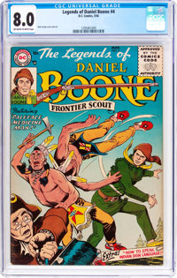 Legends of Daniel Boone #4 (DC, 1956) CGC VF 8.0 Off-white to white pages