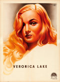 "Movie Posters:Miscellaneous, Veronica Lake Personality Poster (Paramount, 1944). French Moyenne (23.5"" X 31.75"") Roger Soubie Artwork.. ..."