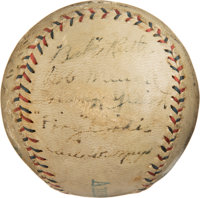 1920 New York Yankees Team Signed Baseball from Muddy Ruel's House--Only Known Example!