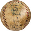 Baseball Collectibles:Balls, 1924 World Series (Game Six) Game Used & Inscribed Baseballfrom Muddy Ruel's House....