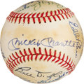 Baseball Collectibles:Balls, 1978 Hall of Famers Multi-Signed Baseball. OAL (Ma...