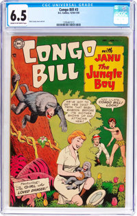 Congo Bill #3 (DC, 1954) CGC FN+ 6.5 Cream to off-white pages