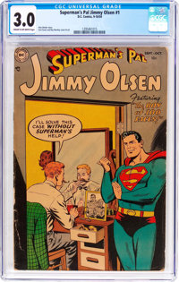 Superman's Pal Jimmy Olsen #1 (DC, 1954) CGC GD/VG 3.0 Cream to off-white pages