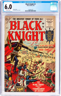 Black Knight #2 (Atlas, 1955) CGC FN 6.0 Off-white pages