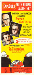 """Movie Posters:Comedy, Dr. Strangelove or: How I Learned to Stop Worrying and Love theBomb (Columbia, 1964). Australian Daybill (13.5"""" X 30"""") Tomi..."""