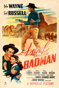 "Angel and the Badman (Republic, 1947). One Sheet (27"" X 41"")"