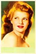 "Movie Posters:Miscellaneous, Rita Hayworth (Columbia, 1940s). Argentinean Personality Poster(29"" X 43"").. ..."