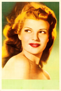 "Rita Hayworth (Columbia, 1940s). Argentinean Personality Poster (29"" X 43"")"